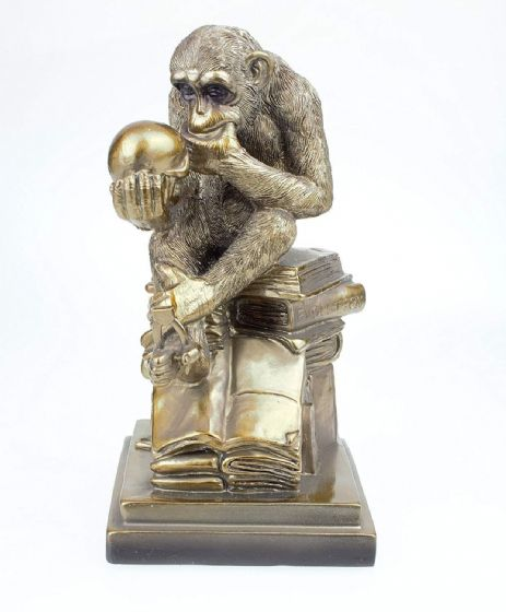 Leonardo Collection Bronzed Darwins Mistake Chimp Sculpture Ornament New Boxed